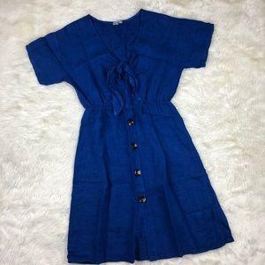 Marina Gigli Blue Tie front dress